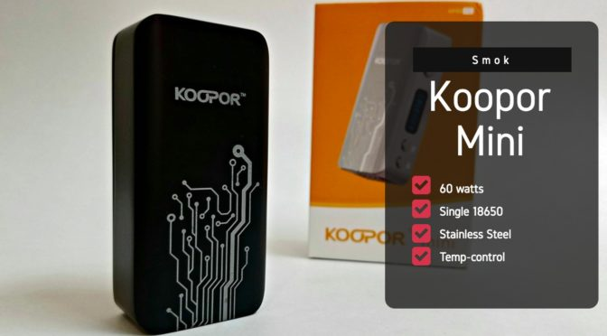 Giveaway! Old School Vape: The Smok Koopor Mini 60w Mod