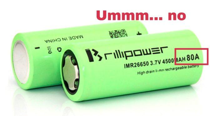 Battery Mooch's Tests on Brillipower Batteries