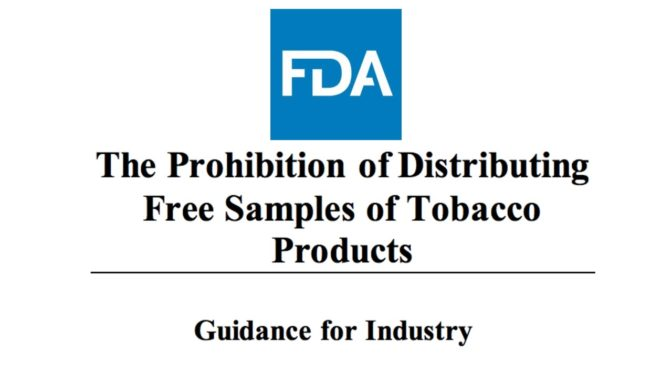 The FDA Released Their Final Guidelines on Free Samples of Tobacco Products