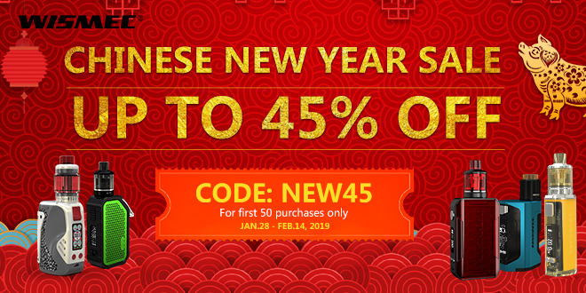 Wismec Deals – 45% off for Chinese New Year!