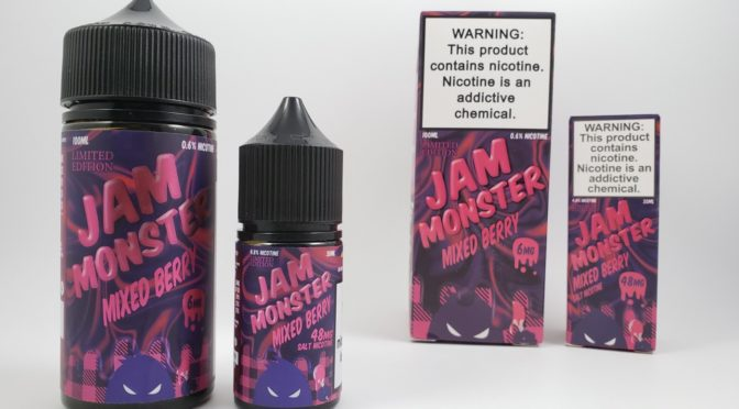 Review of Jam Monster Mixed Berry E-liquid